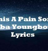 This A Pain Song Nba Youngboy Lyrics