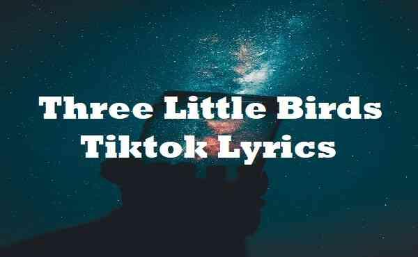Three Little Birds Tiktok Lyrics