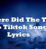 Where Did The Time Go Tiktok Song Lyrics