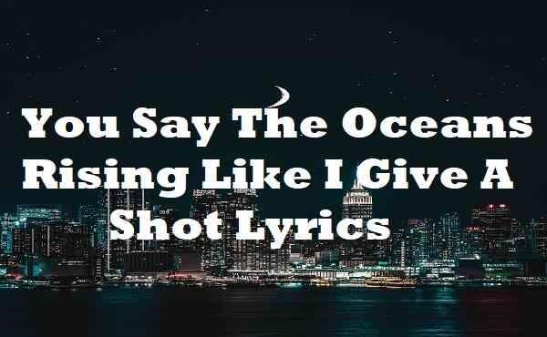 You Say The Oceans Rising Like I Give A Shot Lyrics