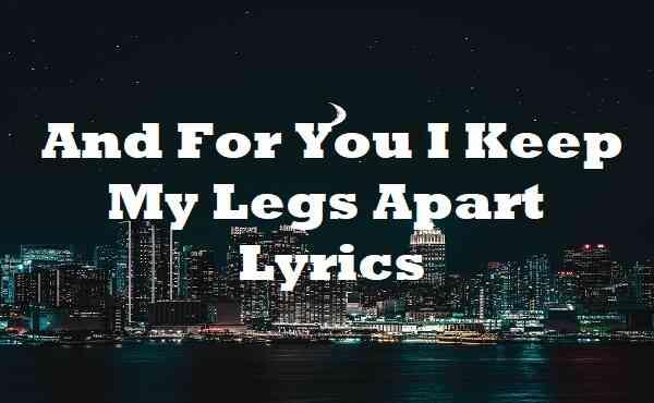 And For You I Keep My Legs Apart Lyrics