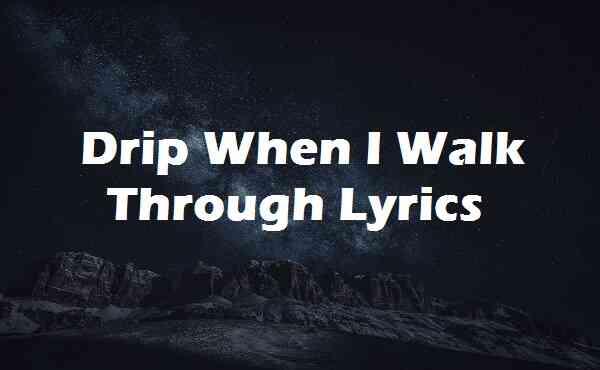 Drip When I Walk Through Lyrics