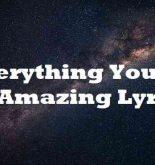 Everything You Do Is Amazing Lyrics
