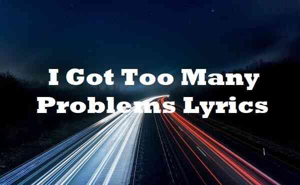 I Got Too Many Problems Lyrics