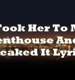 I Took Her To My Penthouse And I Freaked It Lyrics