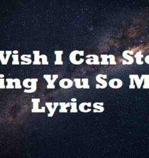 I Wish I Can Stop Loving You So Much Lyrics