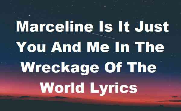 Marceline Is It Just You And Me In The Wreckage Of The World Lyrics