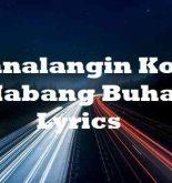 Panalangin Ko Sa Habang Buhay Lyrics