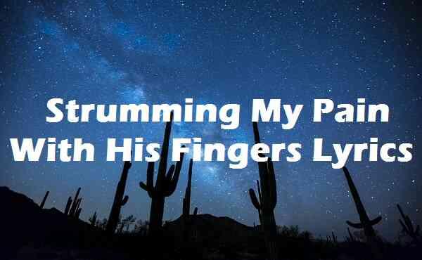 Strumming My Pain With His Fingers Lyrics