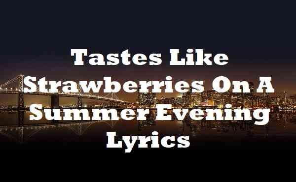 Tastes Like Strawberries On A Summer Evening Lyrics