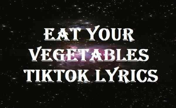 Eat Your Vegetables Tiktok Lyrics