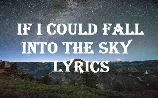 If I Could Fall Into The Sky Lyrics