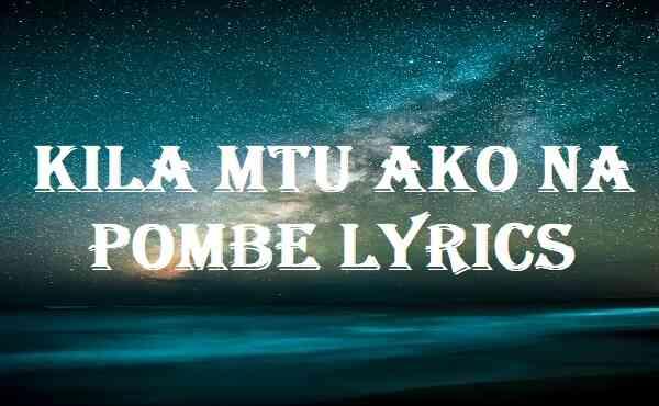 Kila Mtu Ako Na Pombe Lyrics