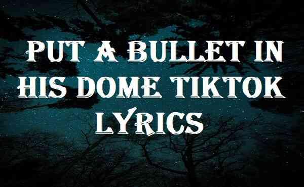 Put A Bullet In His Dome Tiktok Lyrics