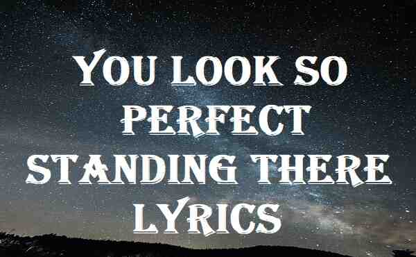 You Look So Perfect Standing There Lyrics
