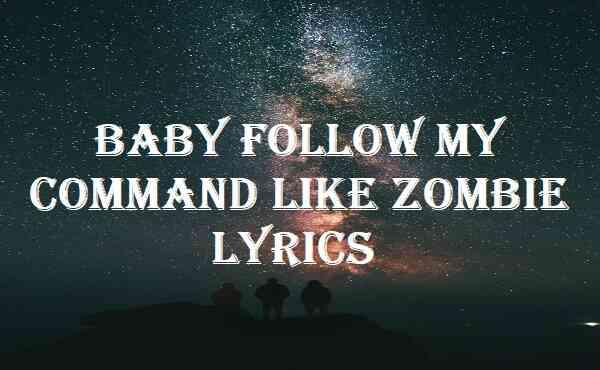 Baby Follow My Command Like Zombie Lyrics