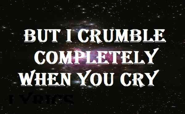 But I Crumble Completely When You Cry Lyrics