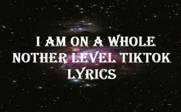 I Am On A Whole Nother Level Tiktok Lyrics