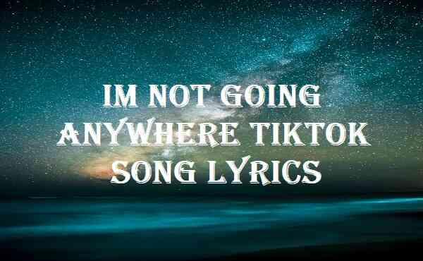 Im Not Going Anywhere Tiktok Song Lyrics