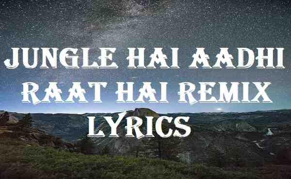 Jungle Hai Aadhi Raat Hai Remix Lyrics