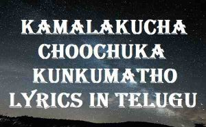 Kamalakucha Choochuka Kunkumatho Lyrics In Telugu