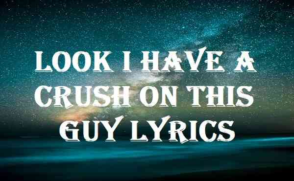 Look I Have A Crush On This Guy Lyrics