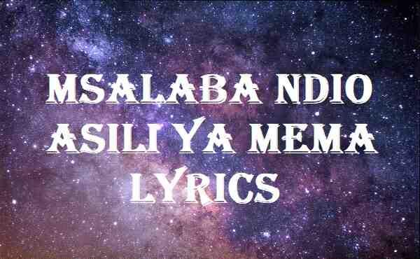 Msalaba Ndio Asili Ya Mema Lyrics