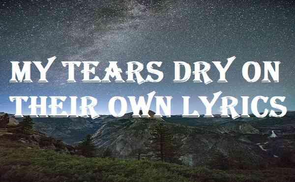 My Tears Dry On Their Own Lyrics