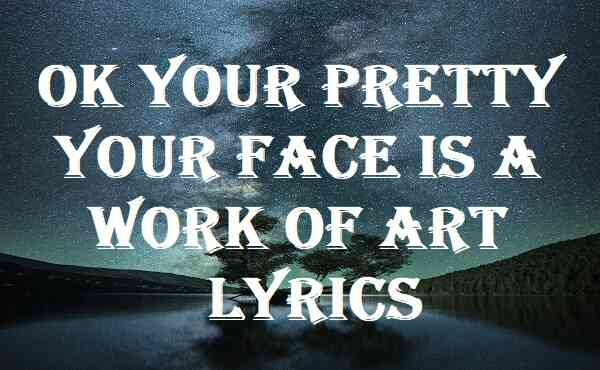 Ok Your Pretty Your Face Is A Work Of Art Lyrics