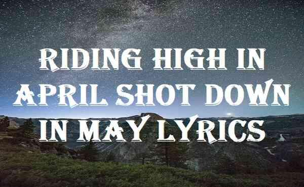 Riding High In April Shot Down In May Lyrics