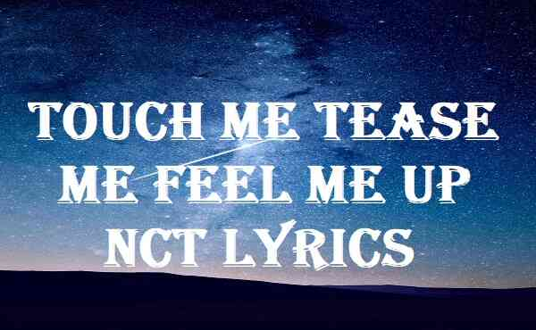 Touch Me Tease Me Feel Me Up Nct Lyrics